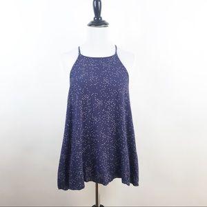 AE star printed open back sleeveless blouse